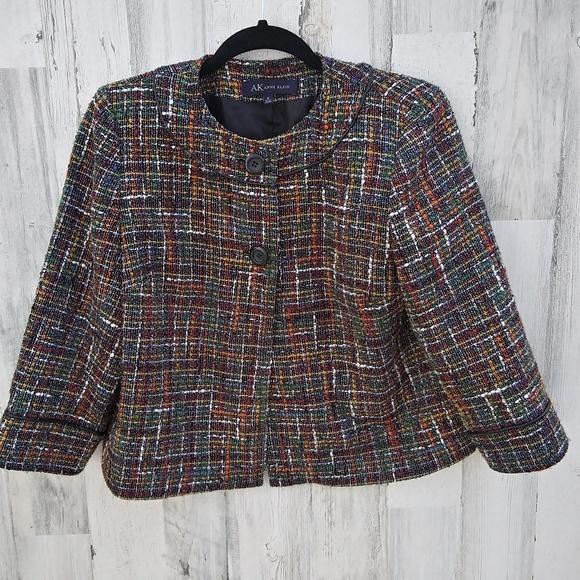 Anne Klein Jackets & Blazers - Anne Klein Colorful Tweed Blazer